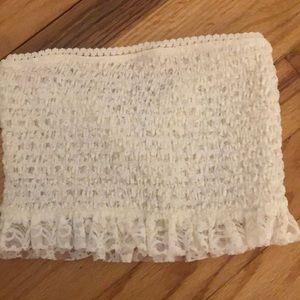 White/cream lace bandeau